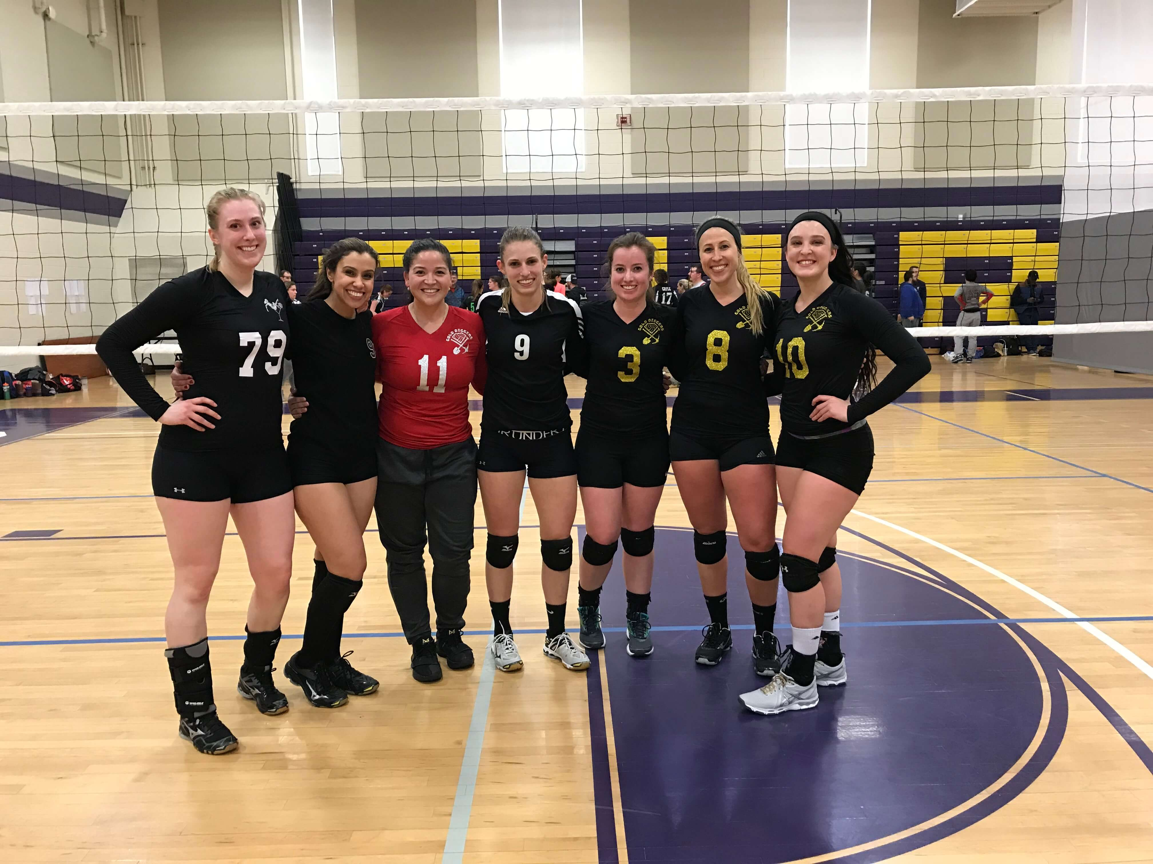 4/15/2018 Gold Diggers defeat Whoo-pass to win WB- at Curry College