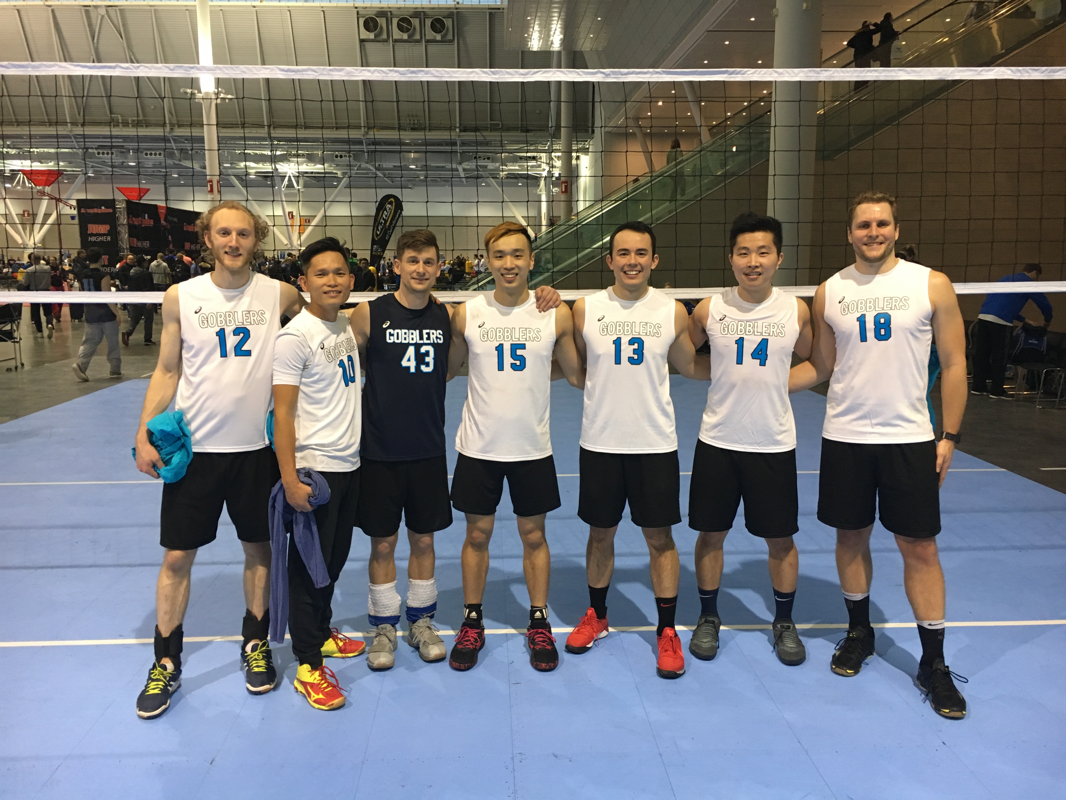 Gobblers beat White Walkers in the Men's USAV B at the BCEC