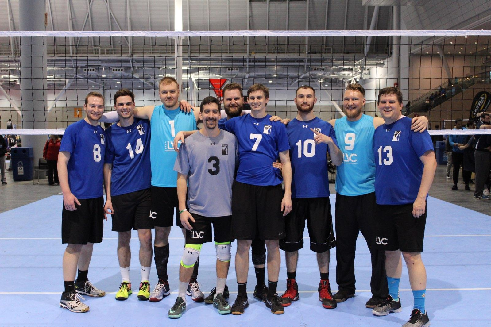 LVC Blue beats Overrated in the Men's USAV BB at the BCEC