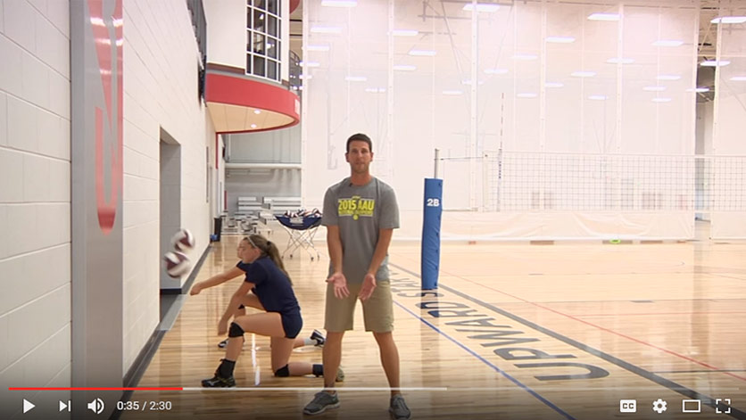 Wall Passing - Volleyball Drill